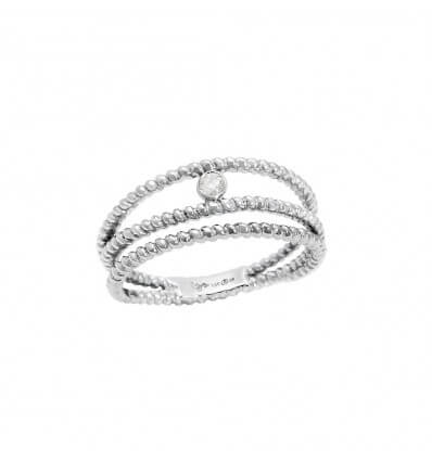 Bague Diamini 3 rangs Or Blanc Diamant