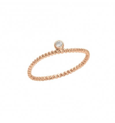 Bague Diamini 1 rang Or Rose Diamant
