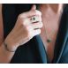Bague Little Light on the Rocks Malachite et Diamants
