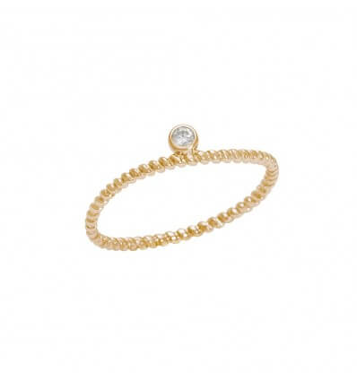 Ring Diamini 1 row Yellow Gold Diamond