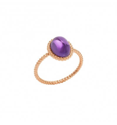 Ring Berlingot Mini Pink Gold Amethyst