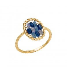 Ring Briolette Yellow Gold Jean